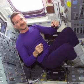 The nuts and bolts of orbital mechanics - Astronaut Chris Hadfield occupies space
